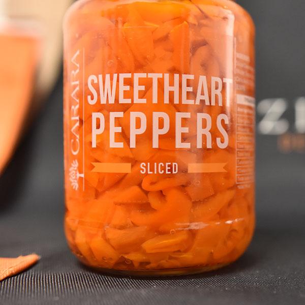 Carara Sweetheart Peppers Sliced